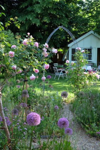 Cottage Garden Special Place Just Being in It Glossy Lavender Tiny Round Music Box Plays You are My Sunshine